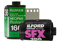 135 black and white film processing